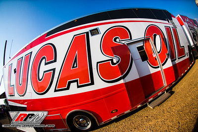 Lucas Oil Late Model Dirt Series newly wrapped hauler