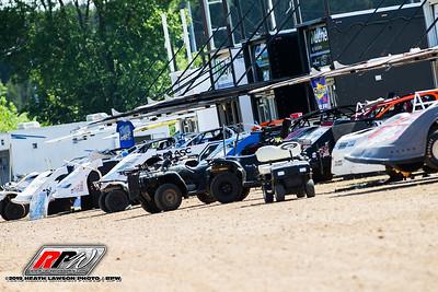 Magnolia Motor speedway pit area