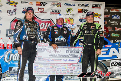 Scott Bloomquist (L), Don O'Neal (C) and Jimmy Owens (R)
