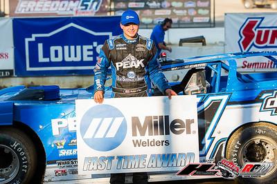Miller Welders Fast Time Award winner Hudson O'Neal