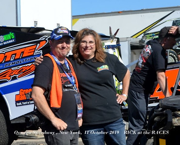Oswego Speedway , New York, 11 October 2019  RICK at the RACES