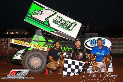 USAC - BAPS Motor Speedway - 8/5/18 - David Dellinger