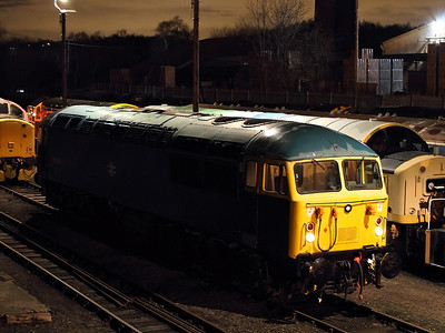 56006 freezes in the cold at Barrow Hill Roundhouse