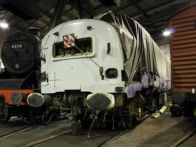 'Baby Deltic' (no. '23372') poses for the camera at Barrow Hill Roundhouse