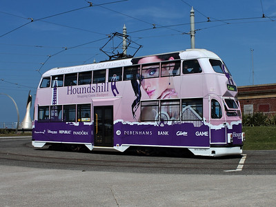 713 travelling round the turning circle at Pleasure Beach on the 26th May 2013