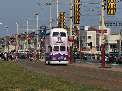 713 ambles along Blackpool Promenade, near the Waterloo Road stop, on the 26th May 2013