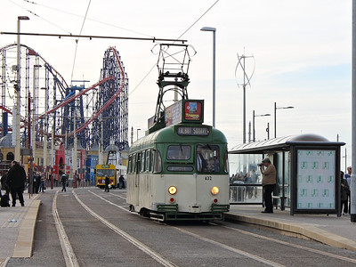 632 ambles back up Blackpool prom with a working to North Pier/Talbot Square on the 5th November 2011