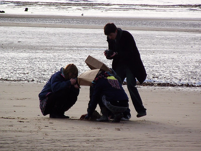 Neither my husband nor myself could work out what these lot were up to, near Blackpool Tower on the 6th November 2010