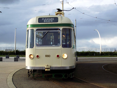 Coronation, no. 660, rests up at the Pleasure Beach turning circle on the 6th November 2010