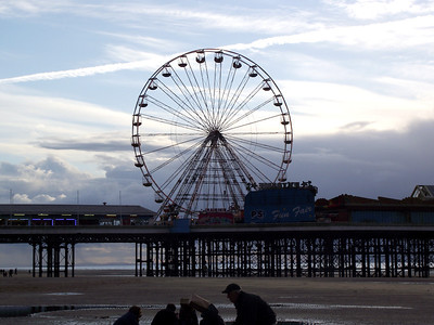 The Big Wheel on Blackpool's Central Pier on the 6th November 2010