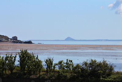 Pettycur Bay and Berwick Law, seen from Burntisland Links, on the 16th June 2013
