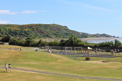 Pettycur Bay Caravan Park, seen from Burntisland Links, on the 16th June 2013