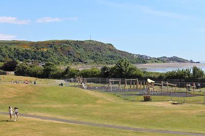 Pettycur Bay Caravan Park, seen from Burntisland Links, on the 16th June 2013
