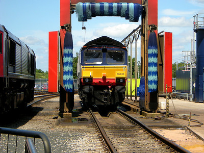 66433 poses by the washer plant at Kingmoor on the 11th July 2009