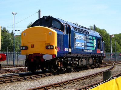 37610 gleams in the sun at Kingmoor on the 11th July 2009