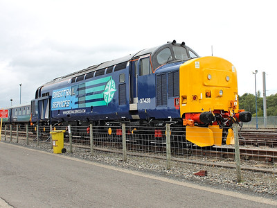 37425 poses for cameras at Kingmoor Open Day on the 17th August 2013