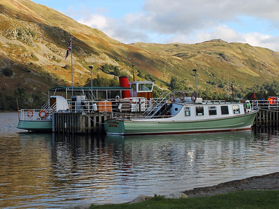 Western Belle and Lady Dorothy moored at Glenridding, on the 5th October 2013