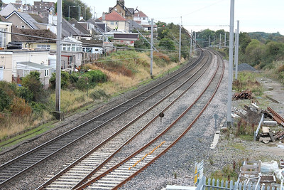 The WCML, looking south from Hest Bank on the 4th October 2013