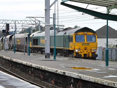 66616 ambles into Carlisle on the 3rd October 2013