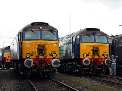 57302 and 57304 pose at DRS Gresty Bridge Open Day on the 18th August 2012