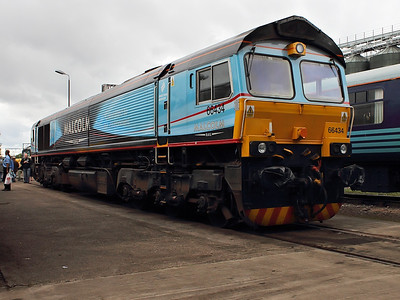 66434 showing off it's new(ish) colours at DRS Gresty Bridge Open Day on the 18th August 2012