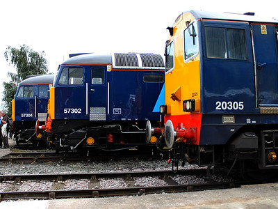 20305, 57302 & 57304 pose at DRS Gresty Bridge Open Day on the 18th August 2012