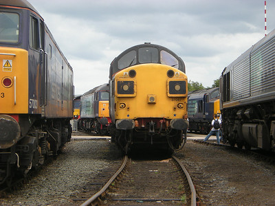 37087 poses for photographers at Gresty Bridge on the 10th July 2010