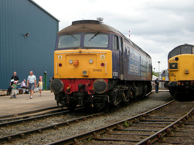 57003 stands at Gresty Bridge on the 10th July 2010