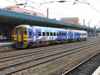158910 waits at Doncaster on the 14th March 2014