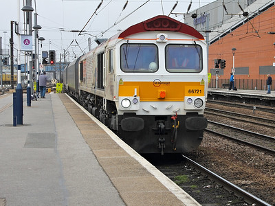66721 rumbles through Doncaster on the 14th March 2014