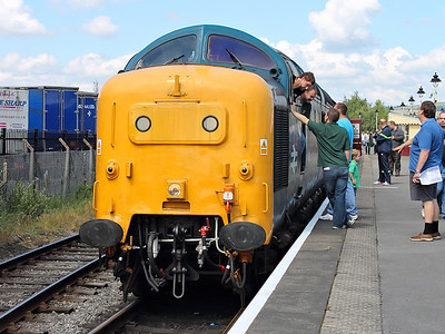 55002 rests at Heywood on the 7th July 2012