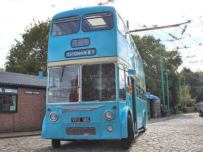 Newly restored Teesside Corporation 11 shows off it's gleaming paintwork, as it travels around the museum