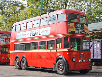 London Transport 1201 sits, awaiting it's turn on the circuit.