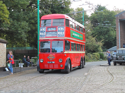 London Transport 796 navigates the museum site
