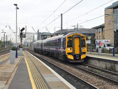 158712 ambles into Haymarket on the 15th October 2015