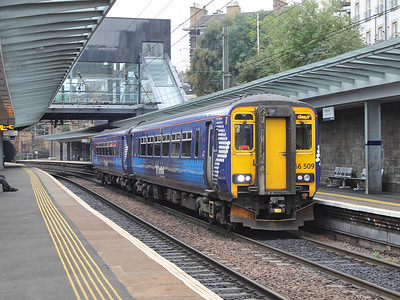 156509 leaves Haymarket on the 15th October 2015