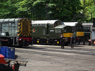 08266, D6700 and D7629 stand at Haworth depot on the 21st May 2011