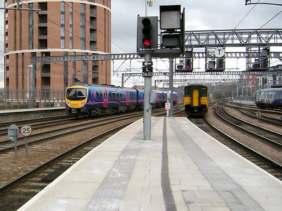 150205 and 185120 leave Leeds on the 15th March 2010