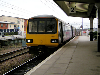 144004 arrives at Wakefield Westgate on the 15th March 2010