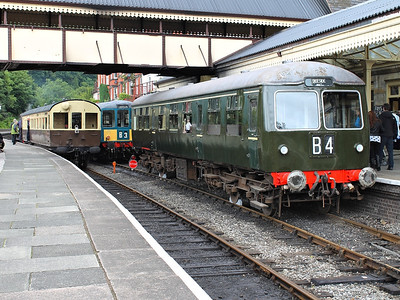 56456 stands at Llangollen during the DMU Gala at the railway on the 22nd June 2013