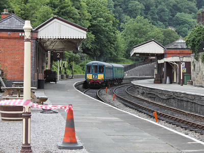 50528 leads it's partner car into Llangollen on the 22nd June 2013