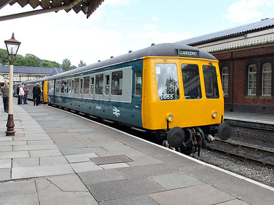 55005 rests at Llangollen on the 22nd June 2013