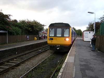 142058 stands at Shaw & Crompton, prior to departing for Manchester, on the 3rd October 2009
