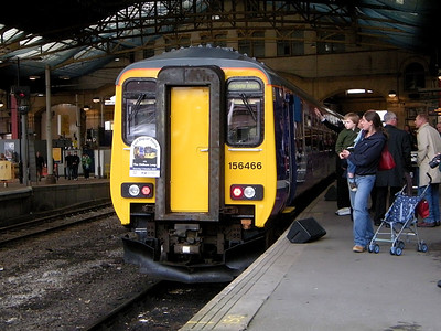 156466 awaits naming at Manchester Victoria on the 3rd October 2009