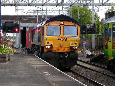66703 rumbles through Nuneaton on the 11th June 2009
