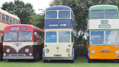 Felix Motors Doncaster 41, Rotherham Corporation 37 and Glasgow Corporation TB78 on the 30th July