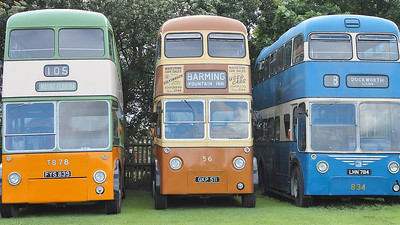 Glasgow Corporation TB78, Maidstone 56 and Bradford Corporation 834 exhibited on the 30th July