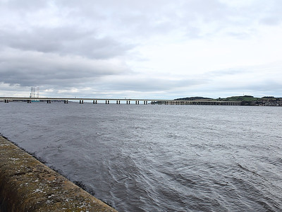 The Tay Road Bridge and River, seen from near the Discovery on Dundee waterfront on the 9th October 2011