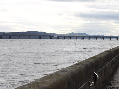The Tay Bridge, seen from near the Discovery on Dundee waterfront on the 9th October 2011