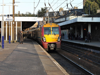 334005 rests at Haymarket on the 10th October 2012